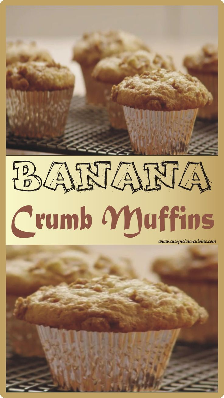 Banana Crumb Muffins are scrumptious. The topping of this recipe stands apart from the rest of muffins