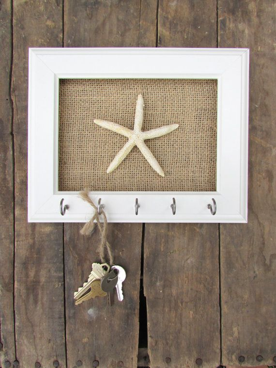 Key Holder Key Hook Necklace Holder Beach Decor by TheHopeStack