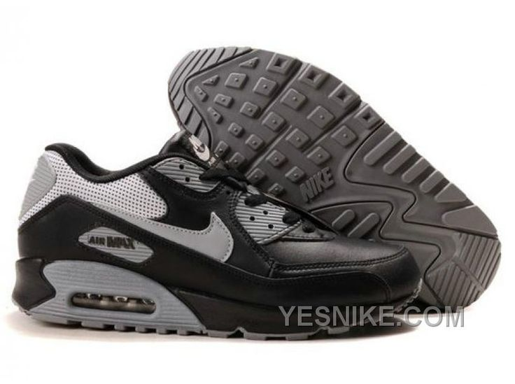 Cheap Buy Nike Air Max 90 Mens Premium Trainers Grey And Black Shoes Sale  Outlet Store