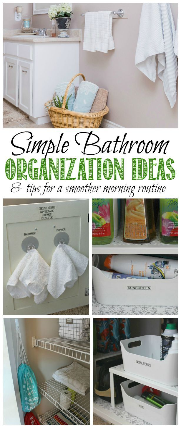 Great bathroom organization ideas and tips for creating a smoother morning routine!