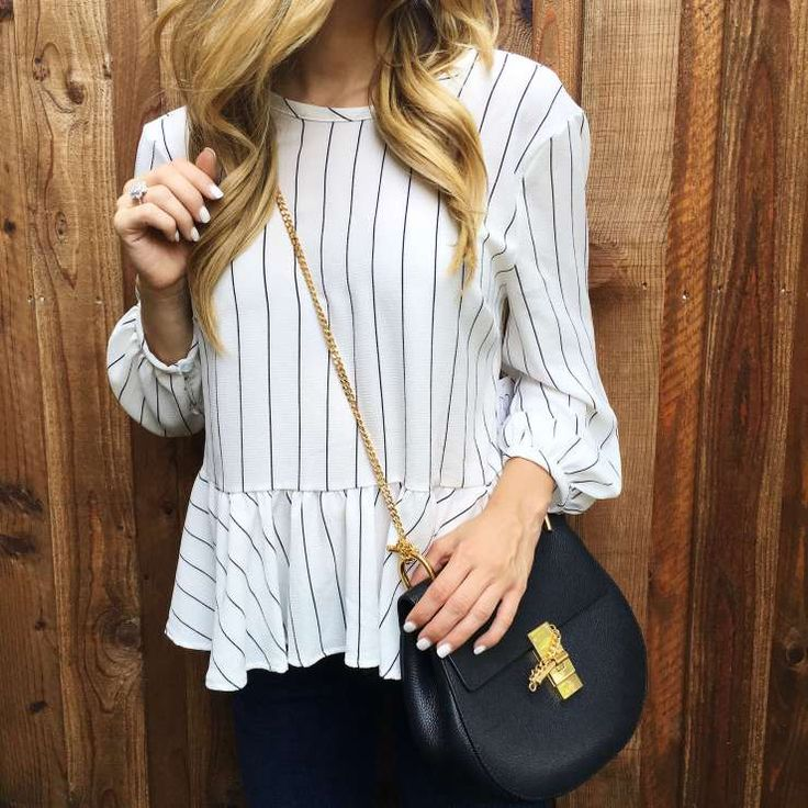 Nordstrom Anniversary Sale Find: Striped Peplum Top for $27!