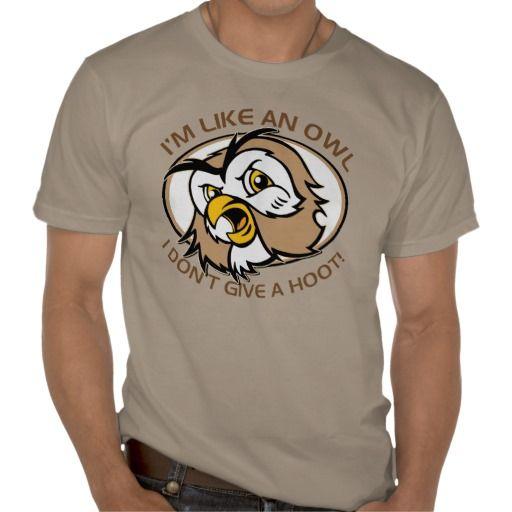 Im Like An Owl I Dont Give A Hoot Organic T-shirt