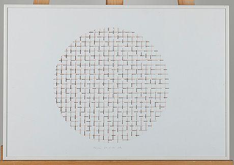 Matti Kujasalo: Sommitelma,  tussi paperille, sign. Roma 28.11.-88, 31x46 cm - Bukowskis Market