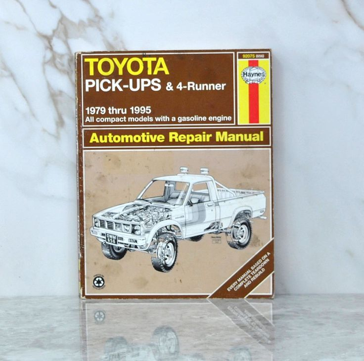 Vintage Haynes 92075 (656) Automotive Repair Manual 1979 Thru 1995 Toyota Pickups And 4 Runner All Compact Models With A Gasoline Engine by winterparkcollect on Etsy