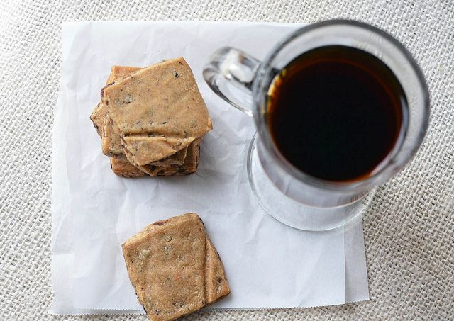 chocolate espresso bean shortbread cookies