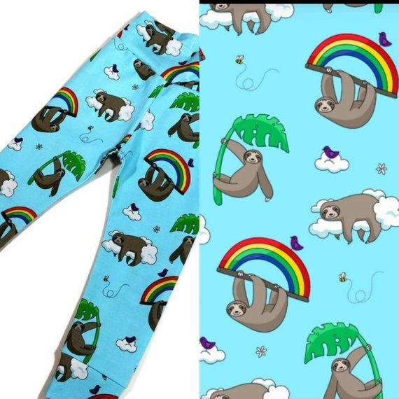 Unisex Infant 2pcs Outfits Set Baby Girls Boys Cartoon Animal Sloth Hoodie Matching Pants Clothes