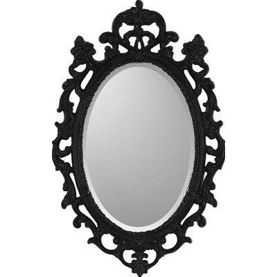 Amazon.com: Black Ornate Traditional Wall Mirror: Home & Kitchen