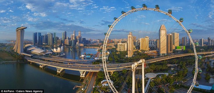 Pictured here is the Singapore Flyer - other city shots include New York, Paris and Barcel...