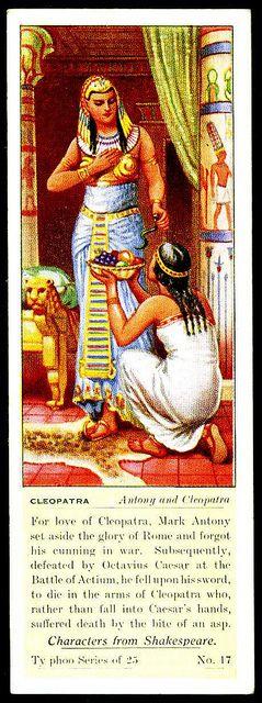 Typhoo Tea Card - Cleopatra by cigcardpix, via Flickr