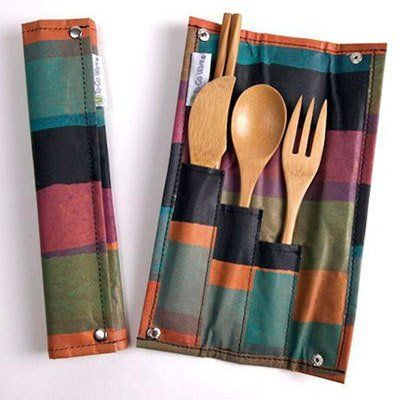I can't wait to make a travel utensil case like this (but with stainless steel, not bamboo utensils)! And I want to make baby girl's cute with fun fabric and her name!