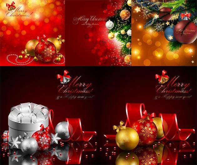 Merry Christmas & Happy New Year Vector
