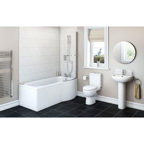 Energy Bathroom Suite with Evesham 1700 x 850 Shower Bath RH | VictoriaPlum.com