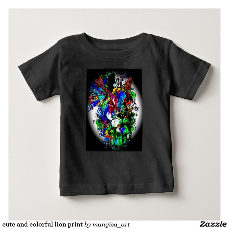 cute and colorful lion print