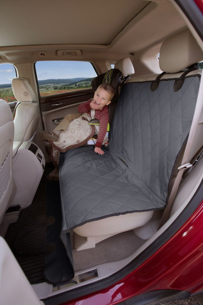 Gray Rear Seat Cover For Pets & Dogs
