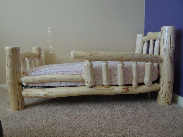 Adirondack rustic bed frames birch abrk dressers rustic bedframes - 25 B 228 Sta Id 233 Erna Om Log Bed P 229 Pinterest