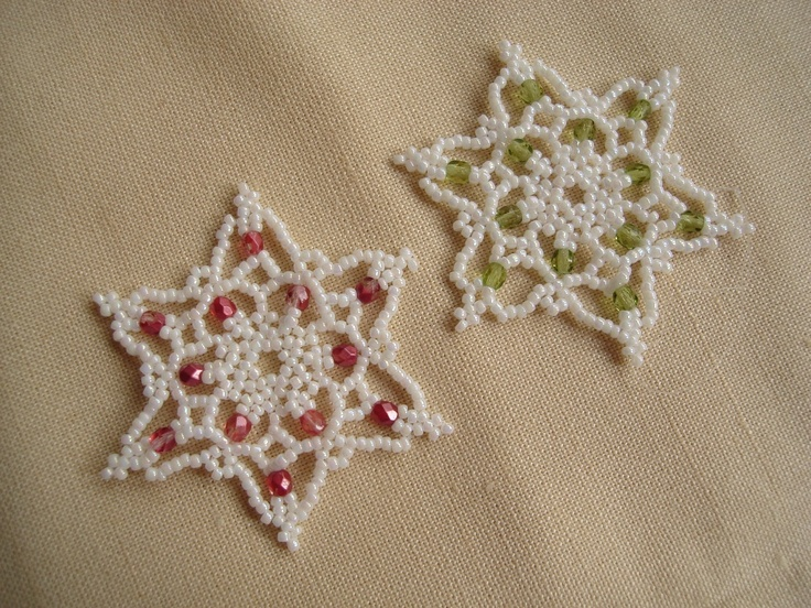 165 best images about beaded snowflake