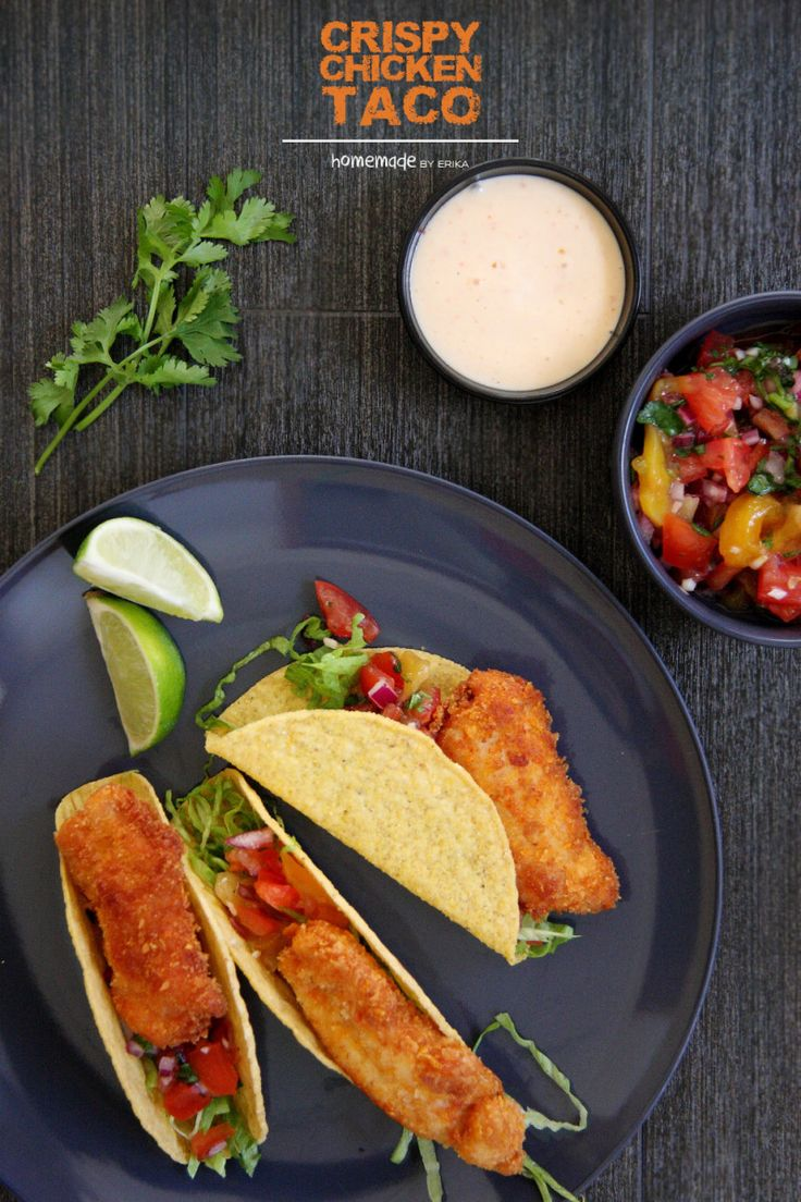 Crispy Chicken Tacos with Mango Salsa and Chilli Mayonnaise