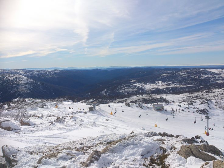 Top of Mt Blue Cow overlooking the Summit Quad - Perisher