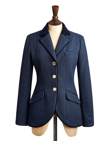 Joules null Womens Tweed Jacket, Marine Navy.                     Elegant and versatile, this hacking jacket is inspired by country sports and will make sure you remain in a field of your own when it comes to British heritage style. Immaculately tailored, crafted with only-at-Joules tweed and finished with velvet piping and trims.