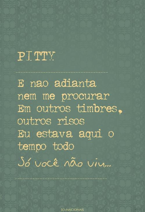 #musica Na sua estante ♫ #Pitty