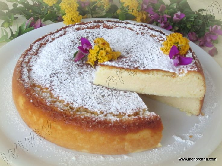Tarta mágica de coco