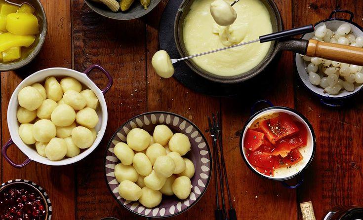 Käse-Fondue mit Mini-Knödel | Pfanni