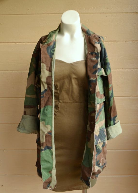 Vintage Camo Jacket Army Camo Shirt Arkansas by founditinatlanta, $28.00