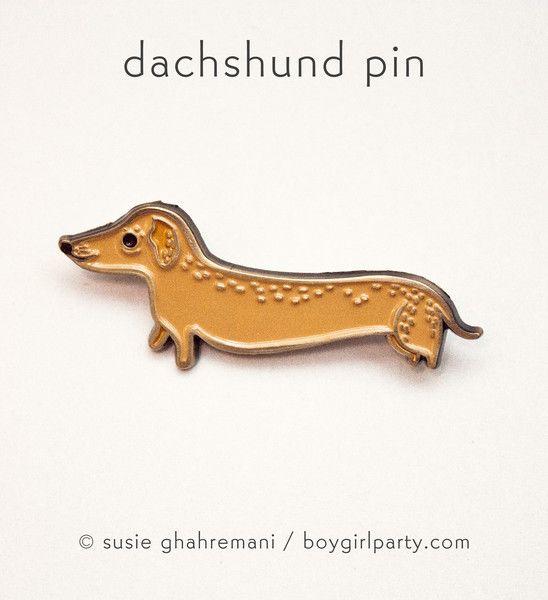 Dachshund Pin by Susie Ghahremani / boygirlparty.com – the boygirlparty shop – shop.boygirlparty.com