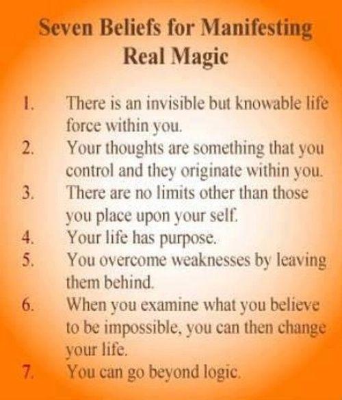 ゝ。Seven Beliefs for Manifesting Real Magic.。