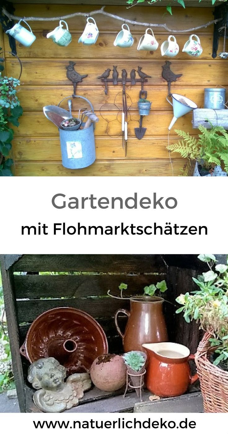 Just Make Garden Decoration Yourself With Finds From The Flea Market Garden Decoration From Garden Design Wheel Decor Garden Decor Beautiful Decor