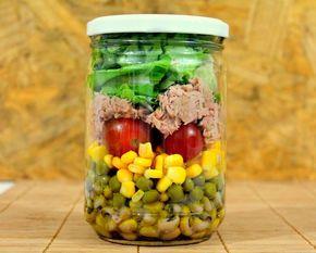 Salada no pote, marmita saudável                                                                                                                                                                                 Mais
