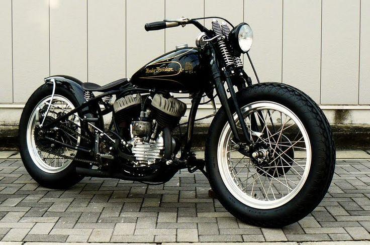 Harley-Davidson Flathead springer bobber | Bobber Inspiration - Bobbers and Custom Motorcycles | vanderbeer September 2013