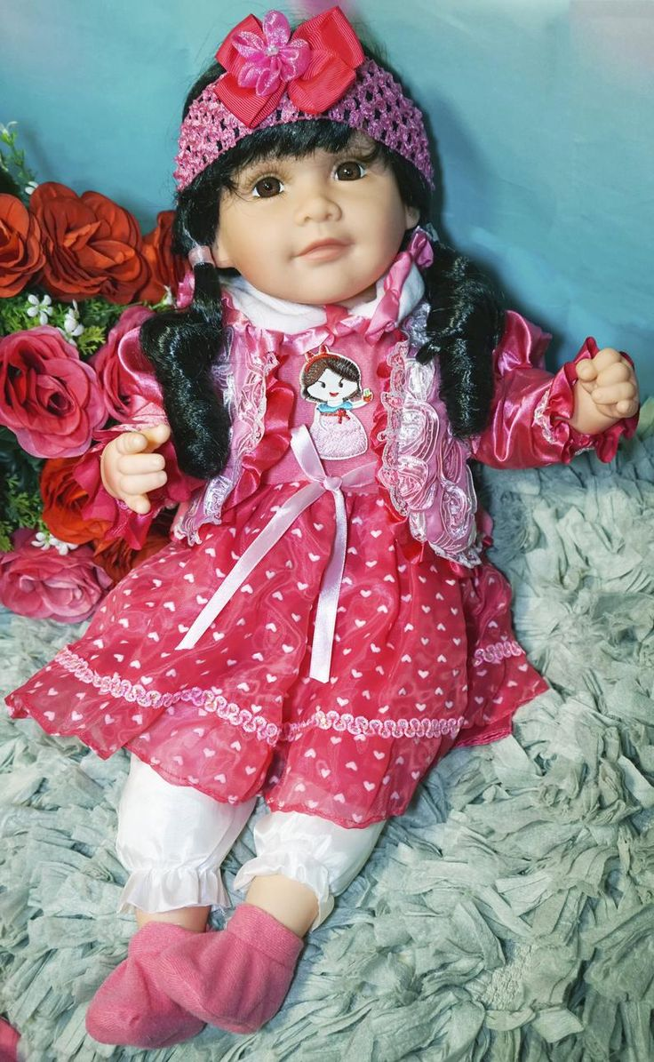 Sweet Baby Cute Cloth Doll 20 Toy Pretty Face Mouth Open ...