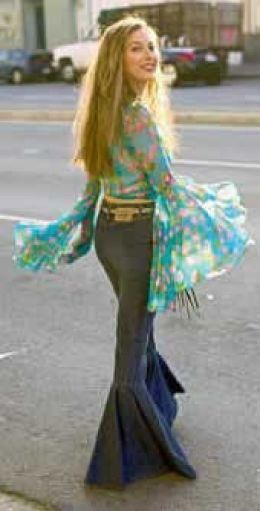 The Hippy Look of the 60s & 70s - I was 15 in 1970 and LOVED the hippie look!  It stayed through my later years, and I had several bell bottom pants and hippie shirts.