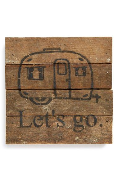 Second+Nature+By+Hand+'Vintage+Camper+-+Let's+Go'+Wall+Art+available+at+#Nordstrom
