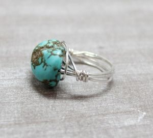 Soutwest Boho Collection Boho turquoise ring