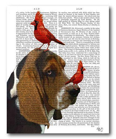 Another great find on #zulily! Basset Hound & Birds Canvas Wall Art #zulilyfinds