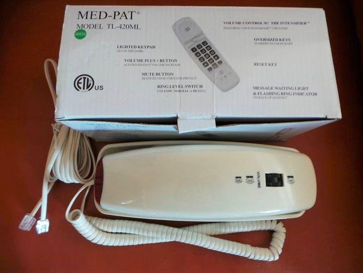 Med-Pat Trimline Hospital Hotel Motel Phone TL-420ML Green Connection #MedPat #Trimline