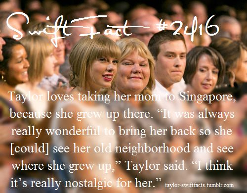 Aww thats so sweet!! I love her relationship with her mom and how close they are!! Mama swift