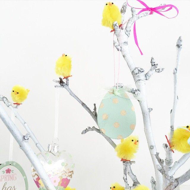 DIY Easter Twig decoration display @selinalake