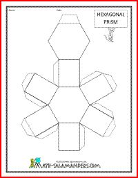 3D Geometric Shapes NETS - Prisms and Pyramids Printable * Free * #math-salamanders