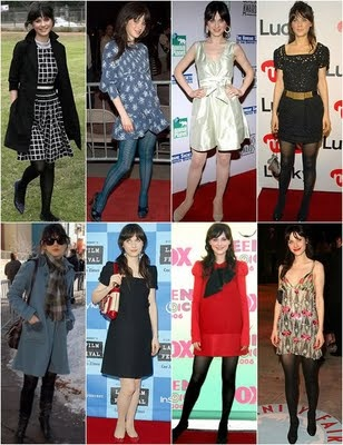 Zooey Deschanel. I love her style and personality(at least in 500 Days of Summer)