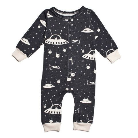 Winter Water Factory Outer Space Jumpsuit - Organic French Terry , Baby Wear - Winter Water Factory, Wild Dill