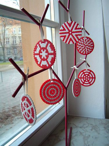 Selfmade  hama beads Christmas decoration by  ophthalmophobie