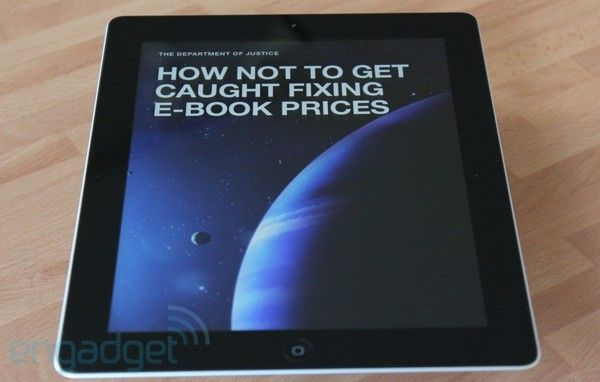 Justice Department formally charges Apple, big five publishers in e-book price fixing case