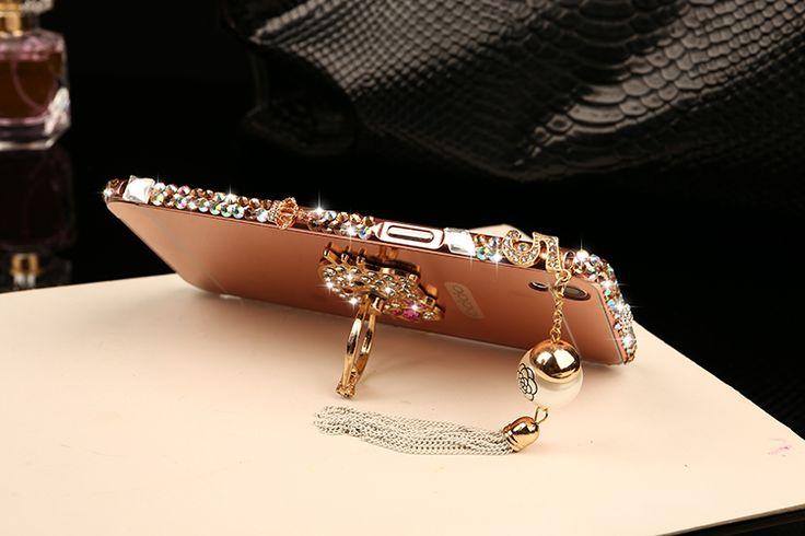 Case OPPO R9 Plus, OPPO F1 Plus Diamond Bling Tassel Metal Bumper Frame + Mirror…
