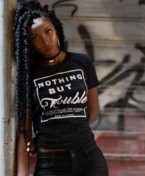black woman, casual, and fashion image