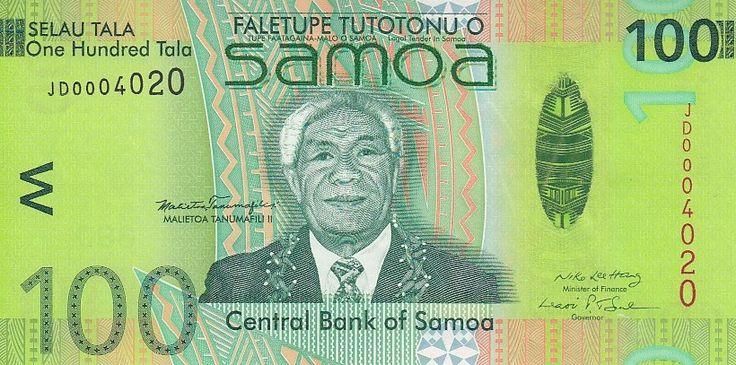 Самоа Банкнота 100 тала 2008 год