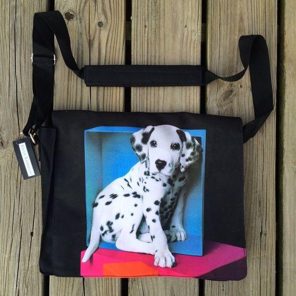 Vintage Vtg 90s Dalmatian Puppy Messenger Book BagNWT | 90s Style ...