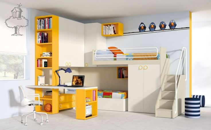 KINDERKAMER NARDI - Kinderbed, Stapelbed, Nardiinterni, Italiaanse design   De Boomhut